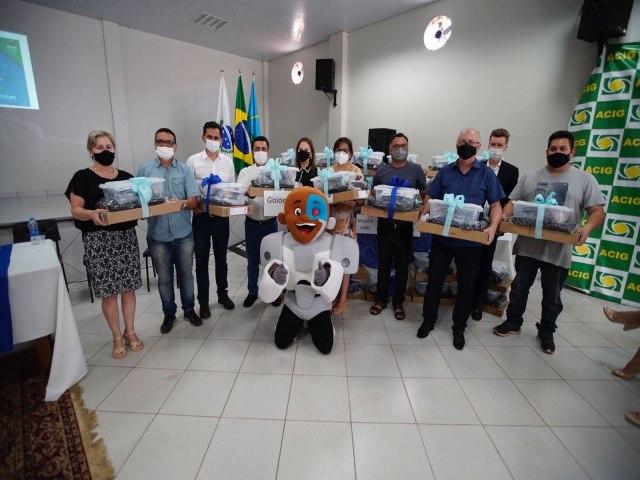 Escolas estaduais receberam kits robótica educacional
